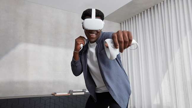 Oculus Quest 2, do Facebook; realidade virtual é vital ao metaverso