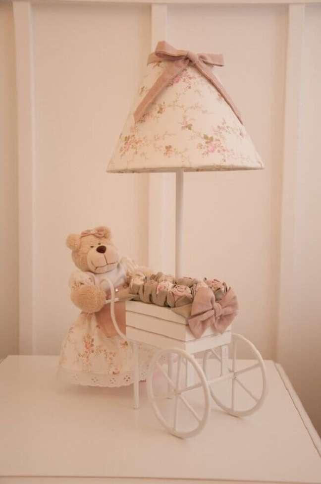 47. Modelo de abajur para criado mudo em quarto infantil – Foto: Homify