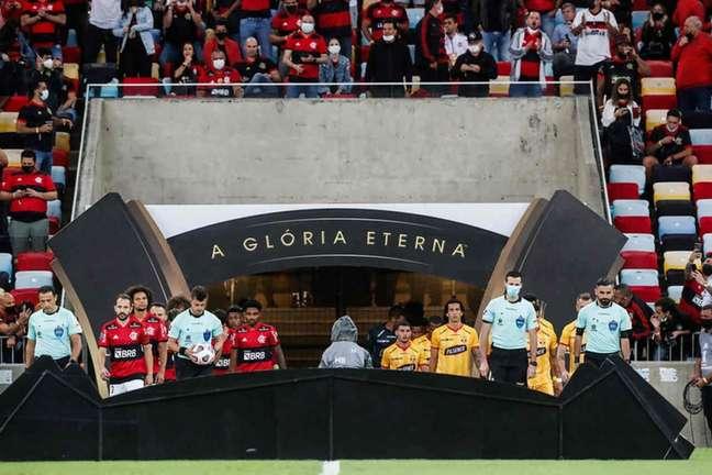 Flamengo e Barcelona de Guayaquil duelam por uma vaga na final da Libertadores (Foto: Marcelo Cortes/Flamengo)