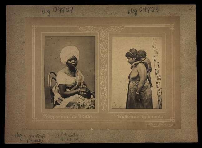 Imagens de estúdio feitas por Marc Ferrez com mulheres escravizadas: escravidão durou tanto tempo no Brasil que chegou a ser retratada pela fotografia