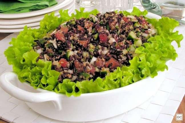 Guia da Cozinha - Tabule de arroz preto: pronto em 10 minutos
