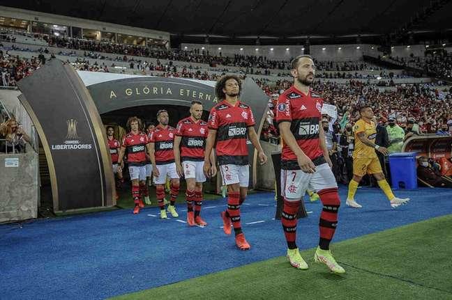 Flamengo decide um lugar na final da Libertadores contra o Barcelona (EQU) (Foto: Marcelo Cortes/Flamengo)
