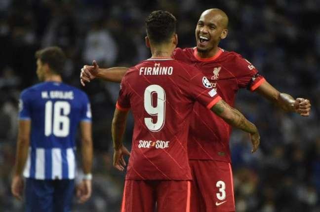 Firmino marcou duas vezes na vitória do Liverpool (Foto: MIGUEL RIOPA / AFP)
