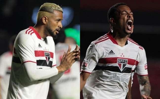 Reinaldo e Welington disputam titularidade na ala esquerda do São Paulo (Foto: Rubens Chiri / saopaulofc.net)