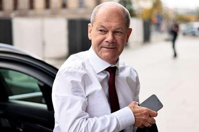 Líder do Partido Social-Democrata alemão, Olaf Scholz, chega para reunião do partido em Berlim 28/09/2021 REUTERS/Hannibal Hanschke