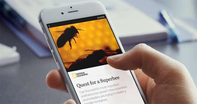 Interface de um Instant Articles