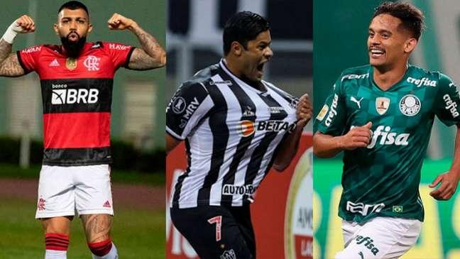 Brasil tem três semifinalistas na Copa Libertadores da América (Montagem LANCE!)