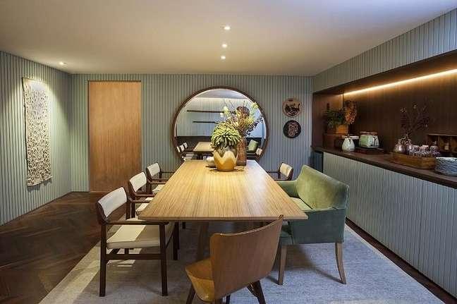 16. Buffet de luxo para sala de jantar embutido. Fonte: Casa Cor 2016
