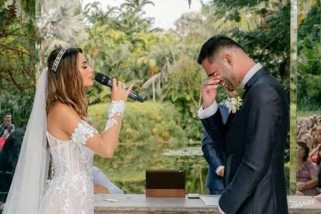 Thiago Maia e Isadora Pompeo fizeram a festa de casamento em 28 de fevereiro deste ano (Reprodução/Instagram)