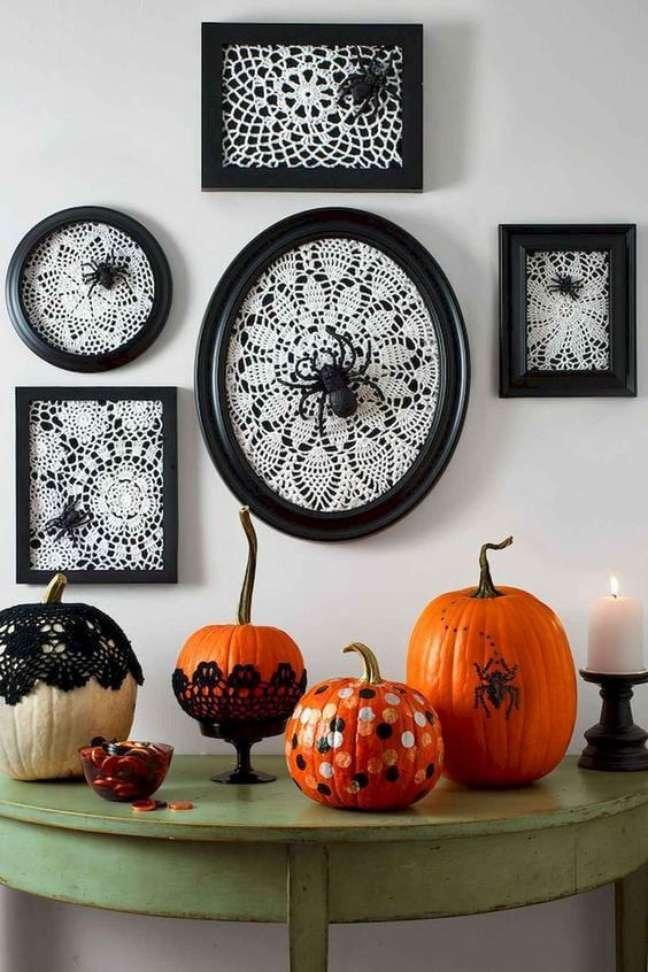50. Use as abóboras na decoração de halloween – Por: CoachDecor