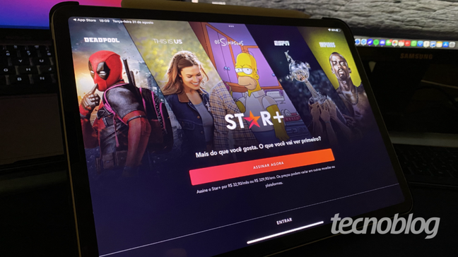 App do Star+ no iPad