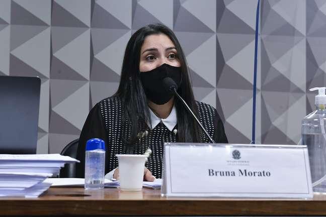 Bruna Morato, advogada de médicos que trabalharam na Prevent Senior, durante depoimento à CPI da Covid