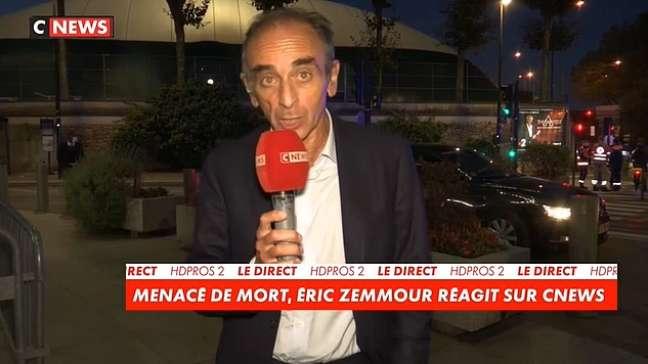 EricZemmourna TV após ser ameaçado em plena luz do dia