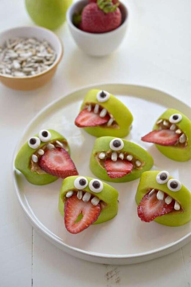 78 Frutas decoradas para festa de Halloween – Foto: The Ofy