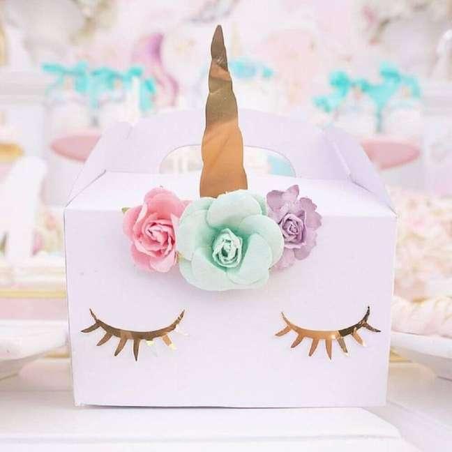 10. Alguns modelos de caixa para festa podem ser lindas e bem divertidas – Foto: The Iced Sugar Cookie