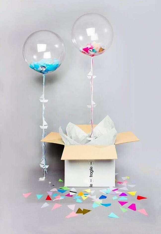 45. Modelo de balão perfeito para decoração da caixa para festa na caixa – Foto: Bonbon Balloons