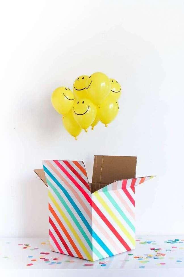 1. Aprenda como fazer festa na caixa para homenagear aquela pessoa especial – Foto: Pulsuz Mobil Portal