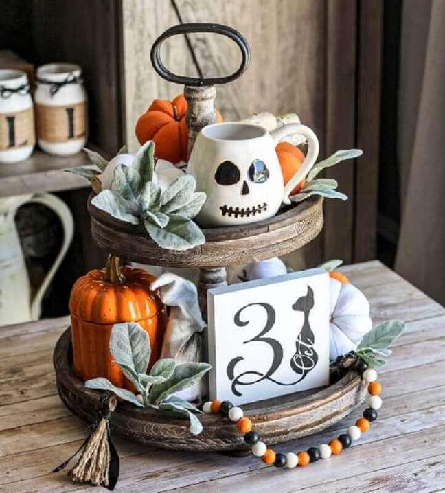 64. Detalhes para decoração rústica de festa de Halloween – Foto: Etsy