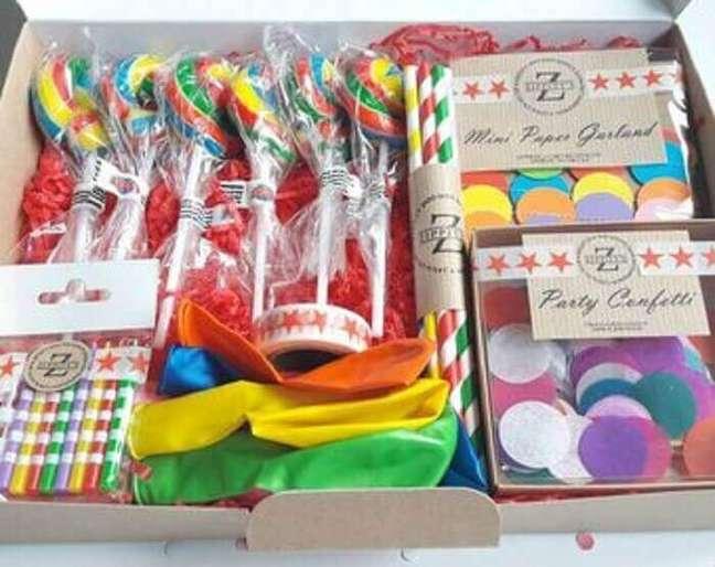 55. Ideia para festa na caixa infantil – Foto: Etsy