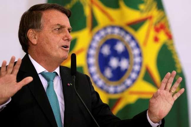 Presidente Jair Bolsonaro durante cerimônia em Brasília 27/09/2021 REUTERS/Ueslei Marcelino
