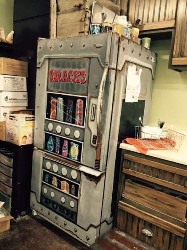 41. A estampa de vending machine tem um ar retrô e é bem popular. Fonte: Curbly