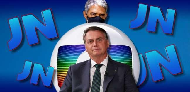 Bonner ignorou a sugestão de Bolsonaro para uma entrevista ao vivo na Globo