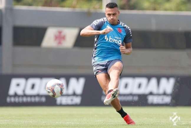Léo Jabá é opção frequente no Vasco desde que foi contratado, mas não jogará neste domingo (Rafael Ribeiro/Vasco)