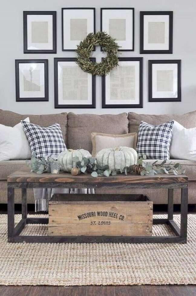 17. Decoração com móveis rústicos para sala de estar – Foto: Houzz