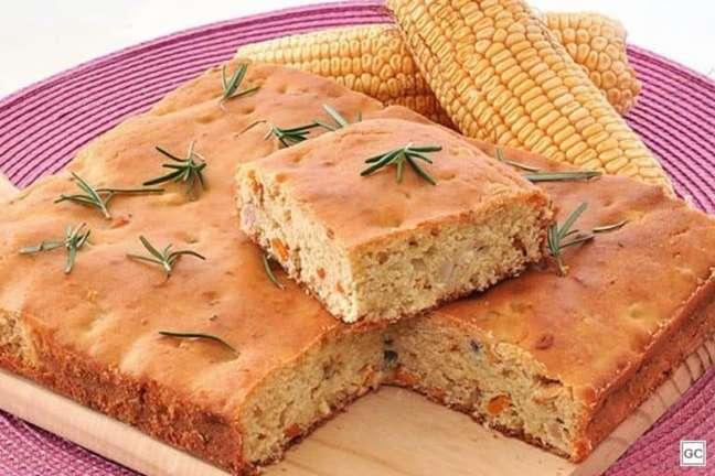 Guia da Cozinha - Torta-pão de milho fácil e deliciosa