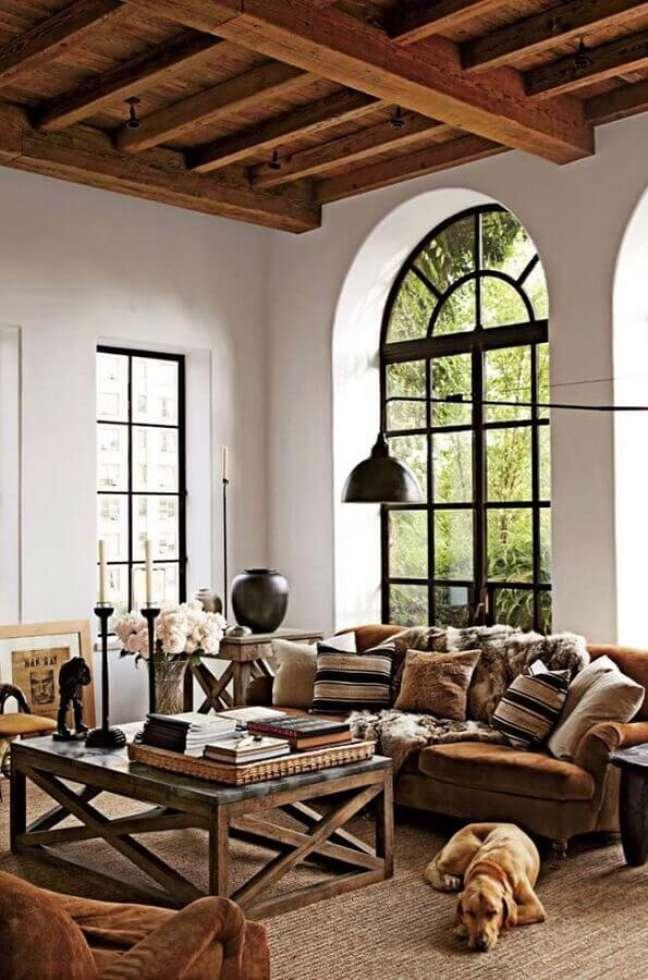 59. Tapete sisal para decoração de sala rústica em cores claras – Foto: DecoraTour