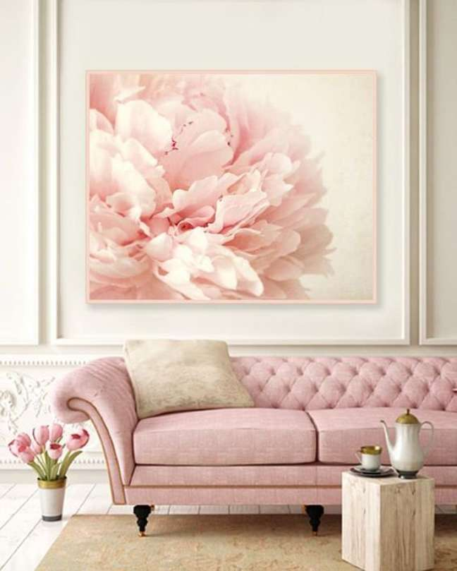 30. Sala com tons cor de rosa – Via: Etsy