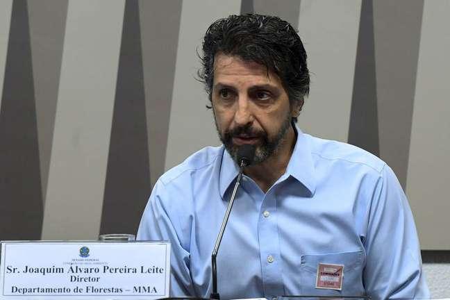 O novo ministro do Meio Ambiente, Joaquim Pereira Leite, em 2019 duranteaudiência pública no Senado