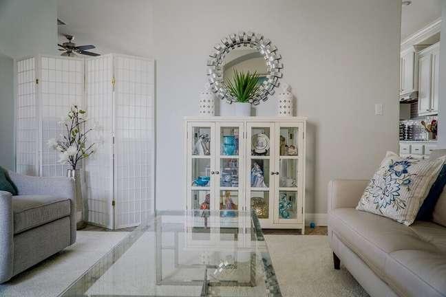 1. Decoração clean para sala branca – Foto: Pexels