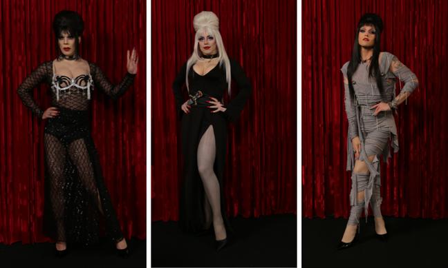 Ikaro, Penelopy e Rita e Elvira: A Rainha das Trevas (Fotos: E!Entertainment/Divulgação)