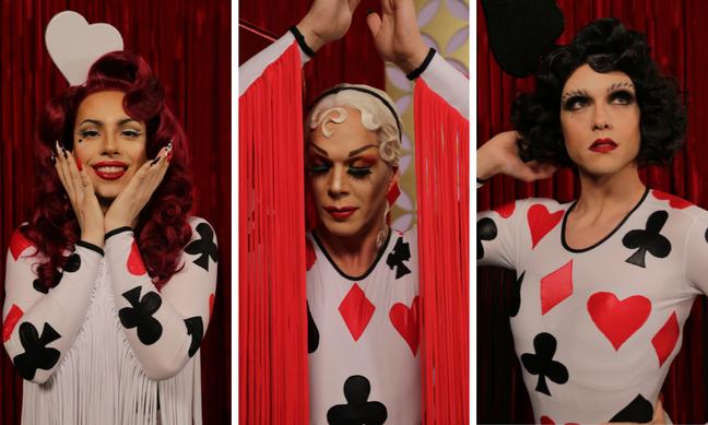 Penelopy, Ikaro, Rita de naipes de baralho Ikaro, Penelopy e Rita (Fotos: E!Entertainment/Divulgação)