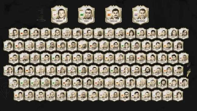 A lista completa dos ícones no Fifa 22