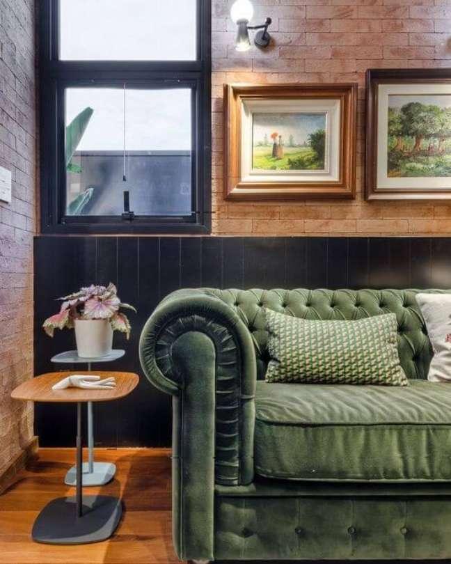34. Sofá verde para sala moderna – Via: Andrea Murão