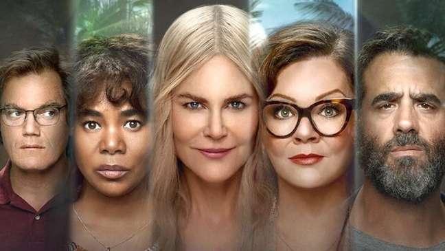 """Os cinco personagens principais da série """"Nove Desconhecidos"""""""