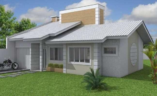 16. Fachada de casas simples. Fonte: Projeto Habitissimo