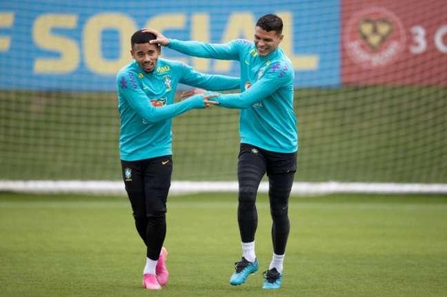 Gabriel Jesus, do City, e Thiago Silva, do Chelsea: convocados de Tite para a Data Fifa (Foto: Lucas Figueiredo / CBF)