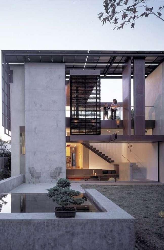 55. Fachada cinza com cores de casas modernas externa – Foto: Architizer