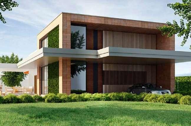 61. Tons terrosos para cores de casas modernas externa – Foto: Dekostile