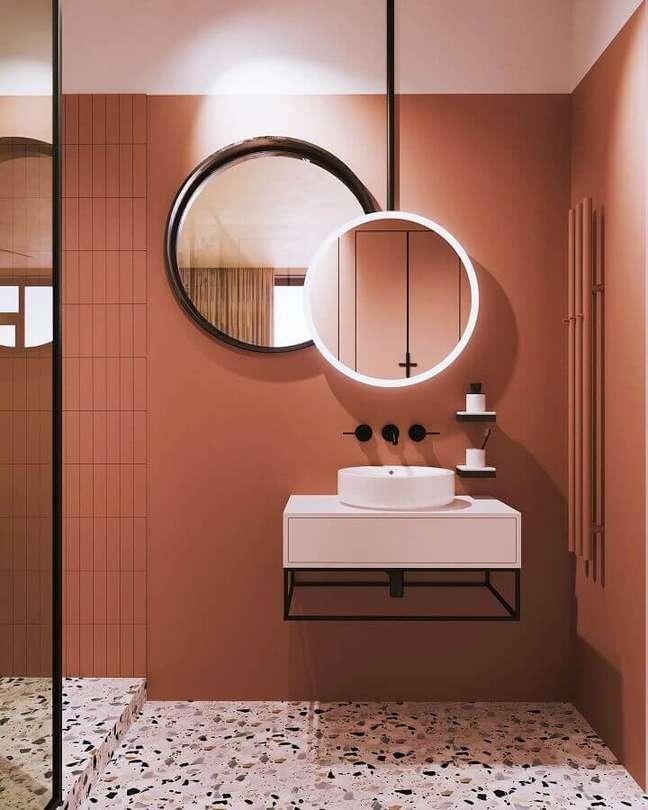 62. Tons terrosos para cores de casas modernas internas – Foto: Home Designing