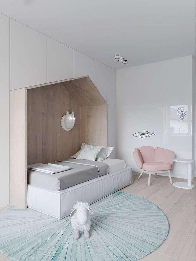 12. Cores claras para quarto infantil minimalista com cores de casas modernas – Foto: iFuun