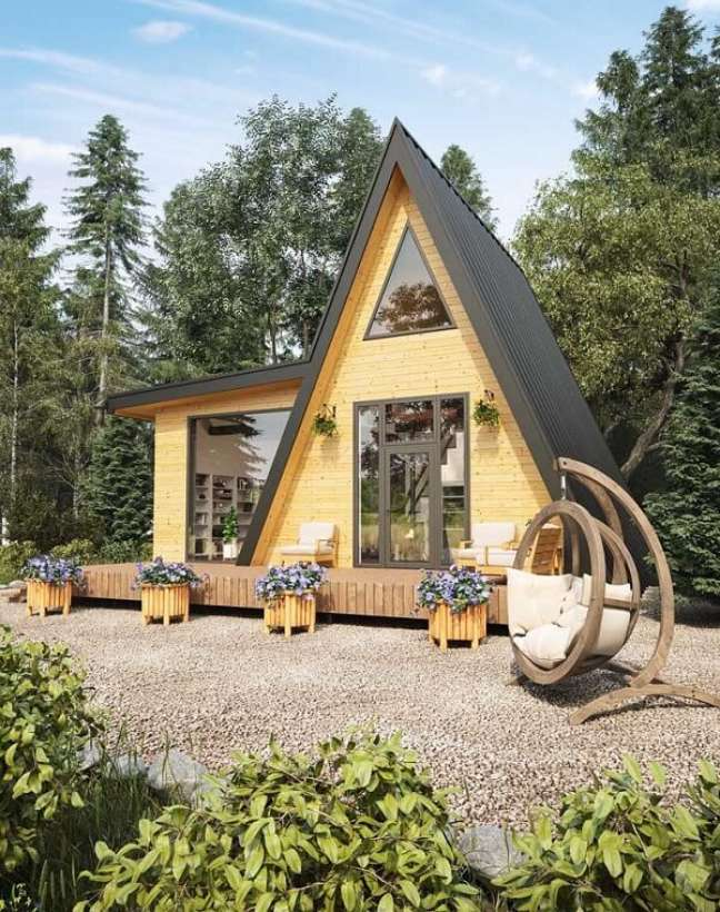 4. Casas simples com design criativo para se inspirar. Fonte: Ideias Decor