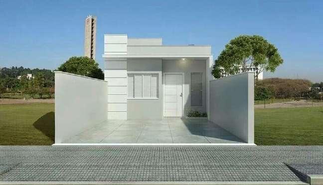 2. Não é preciso de muito investimento para que a frente de casas simples fique bonita. Fonte: Dcore Você