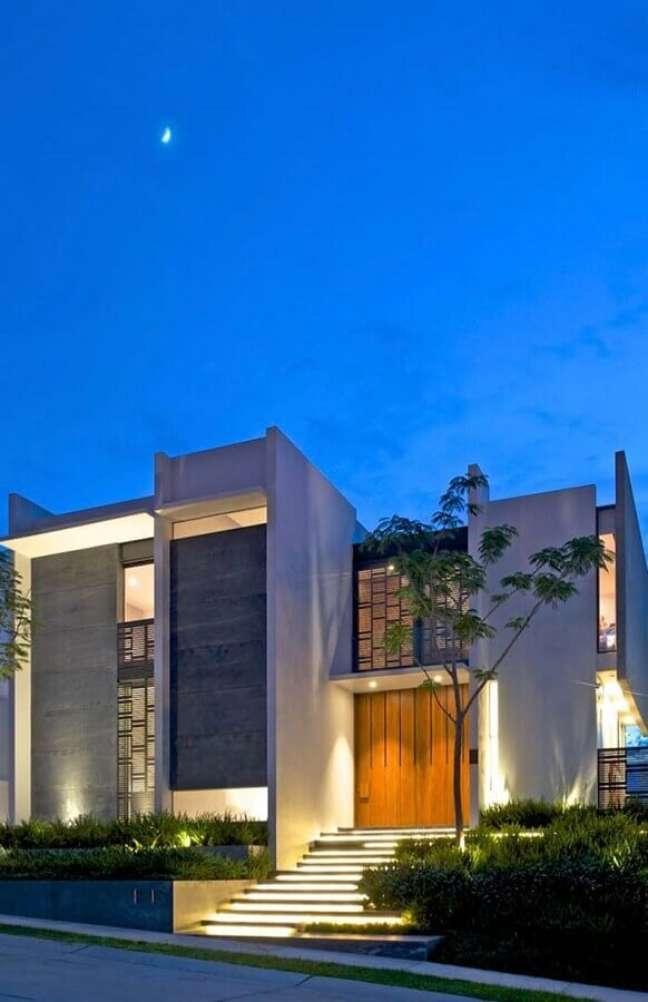 2. Ideia de fachada com cores modernas de casas – Foto: Decor Fácil