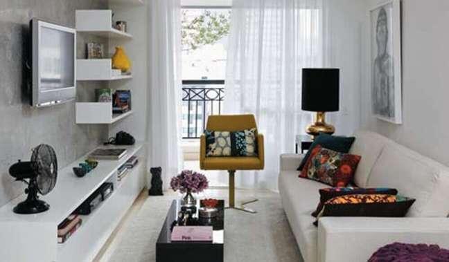 45. Papel de parede para casa simples e bonita. Fonte: Cheap Wall Arts