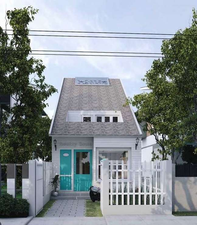 107. Projeto de casas simples soube aproveitar da melhor forma possível o terreno. Fonte: Ideias Decor