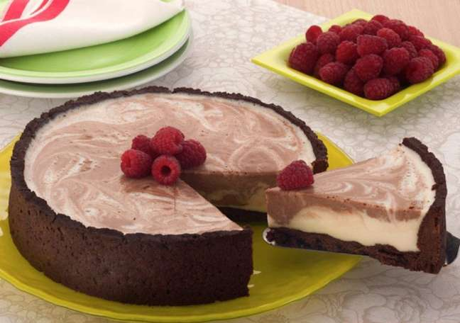 Guia da Cozinha - Cheesecake mesclado: uma sobremesa digna de um confeiteiro